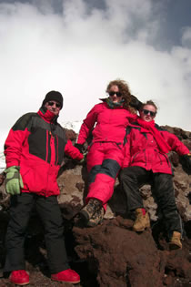 Climbing the Etna with daughter